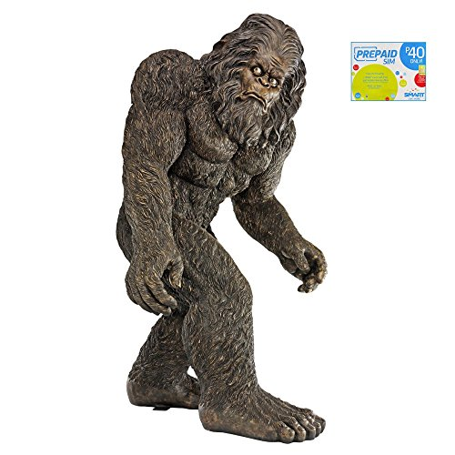 [Bigfoot Life-size 6 Foot Tall Statue Prop and Smart Sim Card Combo Purchase] (Realistic Sasquatch Costume)