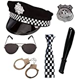 Police 6 piece Fancy Dress Set by PAPER UMBRELLA