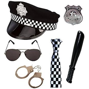 Paper Umbrella Police Costume Six Accessories Set