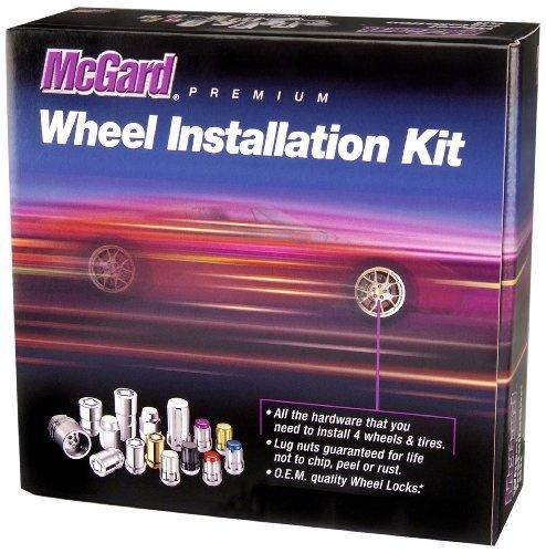 (McGard 65515BK Chrome/Black Spline Drive 5 Lug Wheel Installation Kit by McGard)