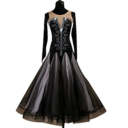 6d3e9062a6ed YuLin Ballroom Dance Dresses Women's Competition Long Sleeve  Crystals/Rhinestones High-Grade Ballroom Dress