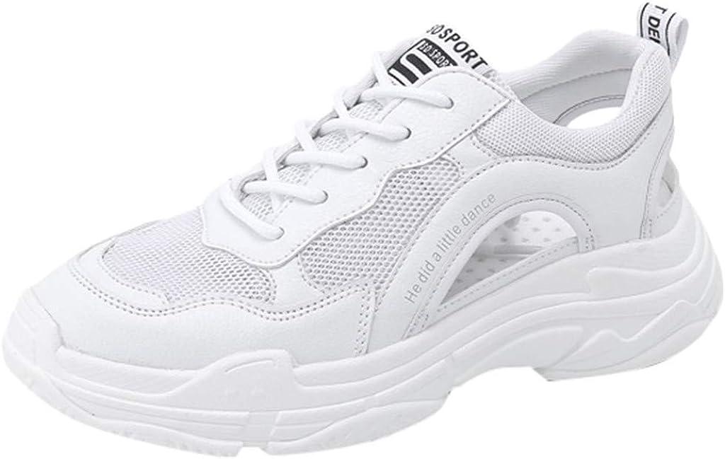 ZARLLE Zapatos de Cordones para Mujer,Sandalias Deportivas de Moda Hueco Respirable Zapatillas de Deporte de cuña,Zapatillas Running: Amazon.es: Ropa y accesorios