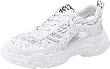 ZARLLE Zapatos de Cordones para Mujer,Sandalias Deportivas de Moda ...