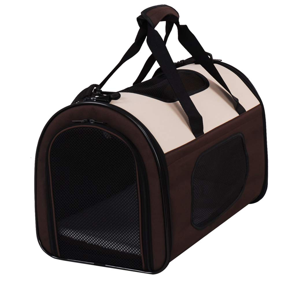 Brown Small Brown Small Pet backpack Pet Outing Bag cat Bag Dog Bag Folding Backpack Out Portable (color   Brown, Size   S)