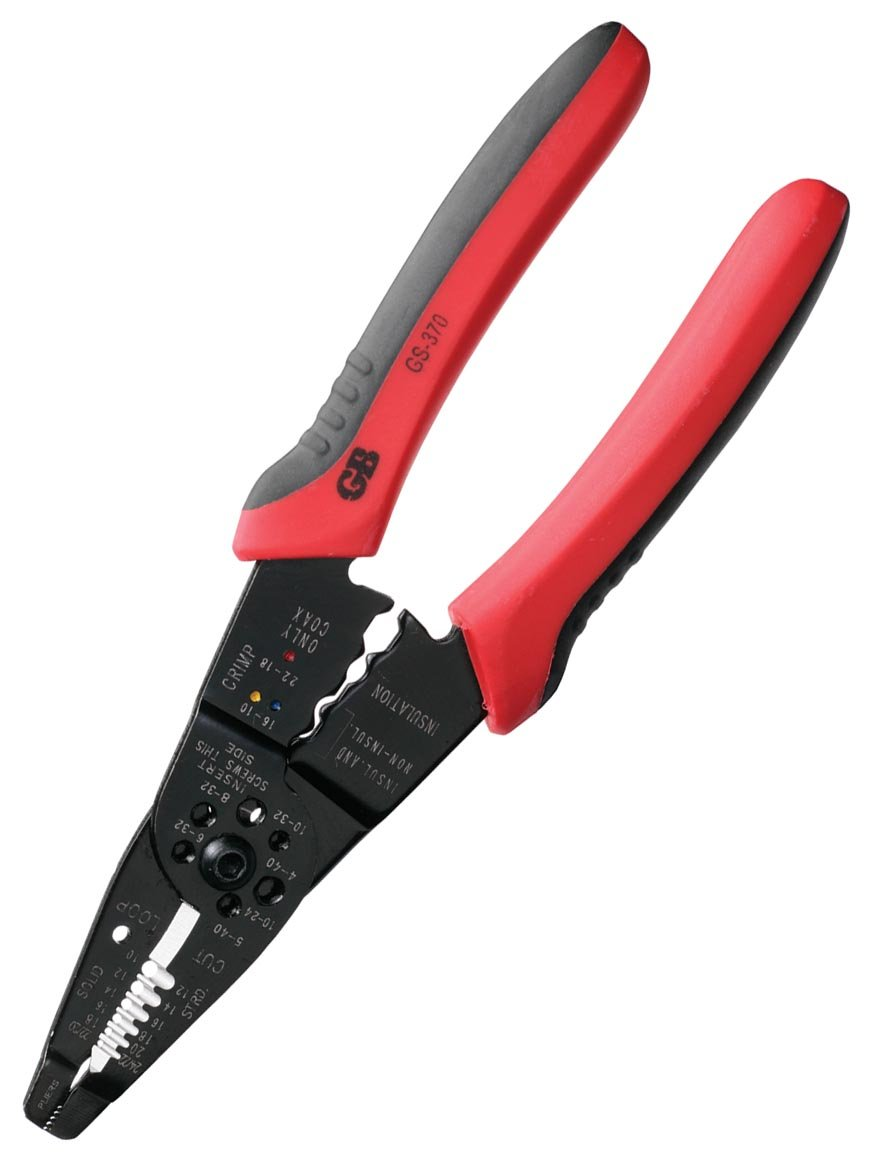Gardner Bender GS-370 Multi-Tool Electrical Wire Stripper, Comfort Grip, Solid & Stranded Wire, 22-10 AWG, Hand Tool, 8½ in.