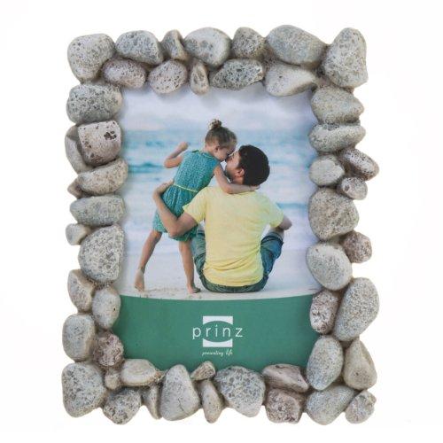 Prinz Beach Rocks Resin Frame, 4 by - Stone Frame