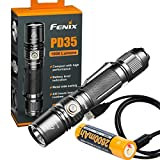 1000 flashlight - Fenix PD35 V2.0 2018 Upgrade 1000 Lumen Flashlight with Fenix 2600mAh Built-in USB Rechargeable Battery & LumenTac Charging Cable