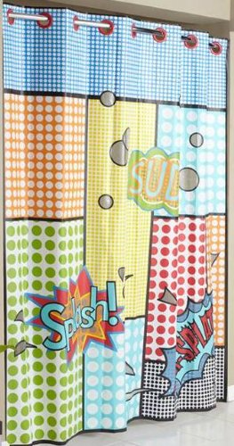 Hookless RBH14FU411 PEVA Shower Curtain