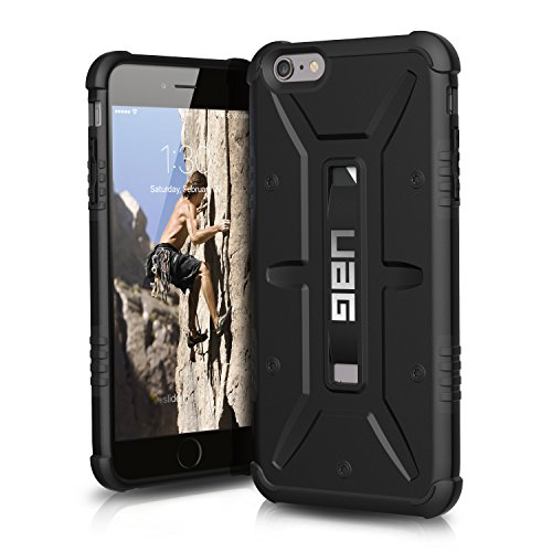 UAG iPhone 6 Plus / iPhone 6s Plus [5.5-inch screen] Feather-Light Composite [BLACK] Military Drop Tested Phone Case Blk Hybrid Silicone Earbuds