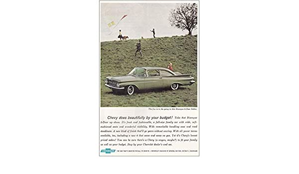 1959 Chevrolet Biscayne Kites Vintage Print Ad Beautifully By Your Budget