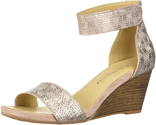 CL by Chinese Laundry Women's Hot Zone Wedge Sandal, Rose Gold/Metallic, 7 M US