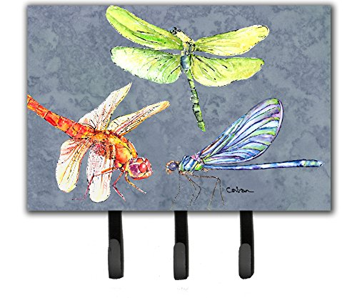 Dragonfly Treasure - Caroline's Treasures 8878TH68 Dragonfly Times Three Leash or Key Holder, Large, Multicolor