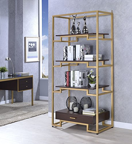 Acme Furniture 92787 Yumia Gold Bookshelf - Buy Online in