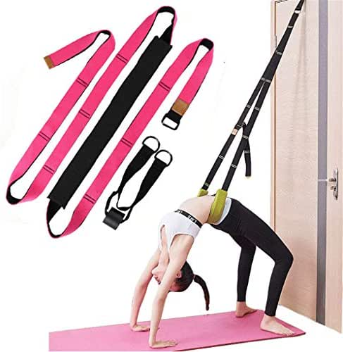 XEMZ Yoga Fitness Stretching Strap - Back Bend Assist Trainer, Improve Leg Waist Back Flexibility, Door Flexibility Stretching Strap, for Rehab Pilates Ballet Cheerleading Splits Gymnastics