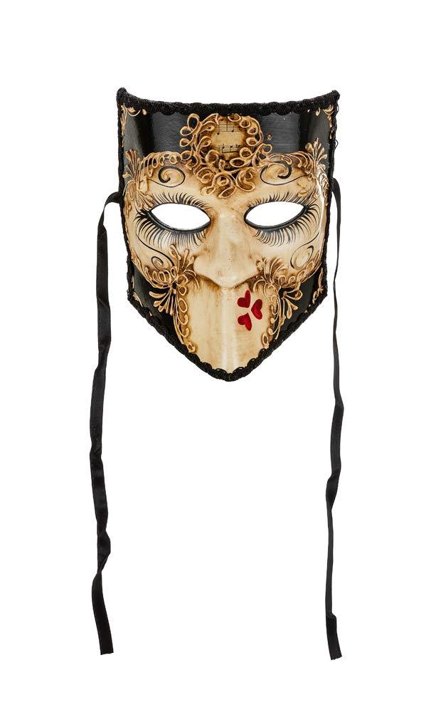 Venezianische Masken Bauta Schwarz In Venedig Handgemacht!