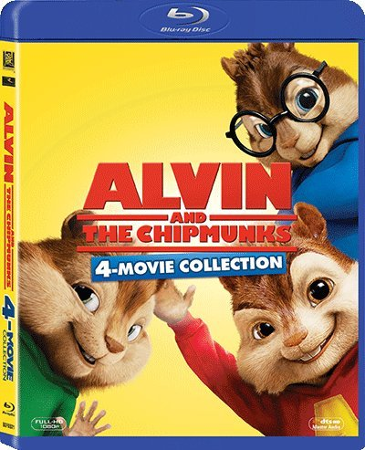 Alvin And The Chipmunks 1-4 Movie Collection (Region A Blu-Ray Boxset) (Hong Kong Version / English Language, Cantonese Dubbed) 4 Movie Quadrilogy Collection ()