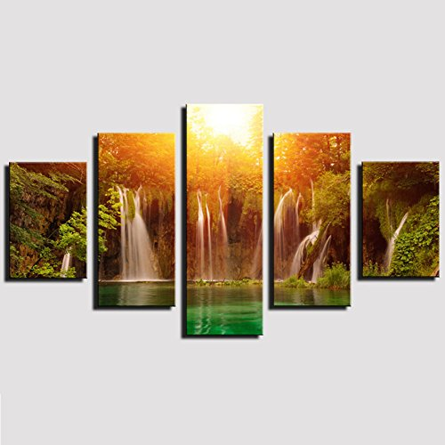 Waterfall Wall Art Oil Painting Picture Print Home Decor