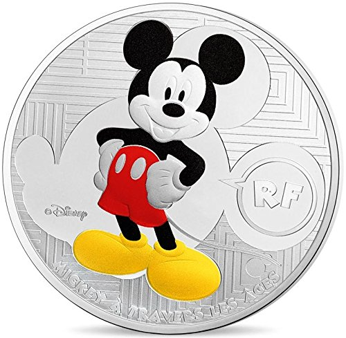 Coins Euro 10 (2016 FR Mickey À Travers Les Âges (Through The Ages) Euro Silver Coin - France 10 € Mint State)