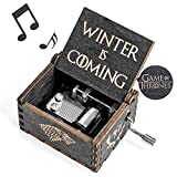 Game-Thrones Music Box, Wood Merchandise Vintage Classic Hand Crank Theme Music Box Best Gift for Game of Thrones Action Figure, Collectible Figure