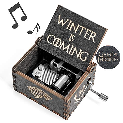 (Game-Thrones Music Box, Wood Merchandise Vintage Classic Hand Crank Theme Music Box Best Gift for Game of Thrones Action Figure, Collectible Figure)
