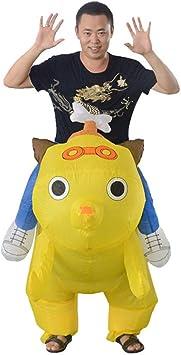 DSstyles Disfraz de pequeño Perro Amarillo inflado de Dibujos ...