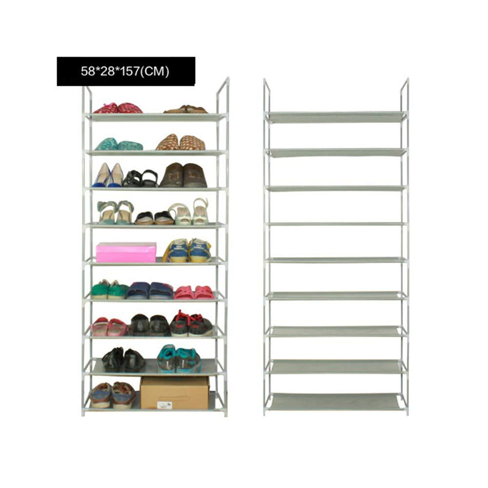 XUE Schuh-Rack Schuhspeicher Space Sparh Schuh Tower Stackable Shelves Schuhe schwarz Holds schuhe Tower Space sparen Durable und Stall für Heels Stiefel Slippers