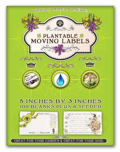 100 Extra Large, Removable and Easy to Read Moving Labels. Eco Friendly, Bio Degradable and You Can Plant These Labels to Grow Flowers After Your Move. Kids, Friends and Family Members Love Helping You Pack and Move with These Labels. Another Zero Waste Moving Solution That's Proudly Made in America!