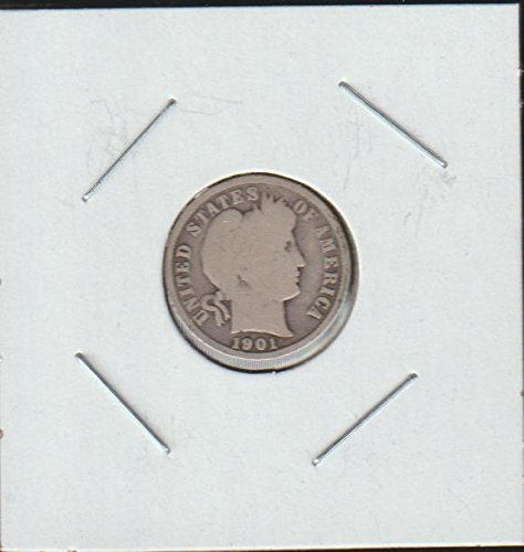 1901 Barber or Liberty Head (1892-1916) Dime Very Good