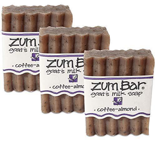 Indigo Wild Zum Bar Goat's Milk Soap, 3oz - Coffee Almond (3 Pack) (Almond Milk Soap)