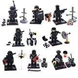 Army Minifigures Set SWAT Team with Military Weapons Accessories for Children Creative Role Play , 8 Pieces