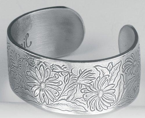 Pewter Bracelet - Flower of the Month - April Month Pewter Bracelet