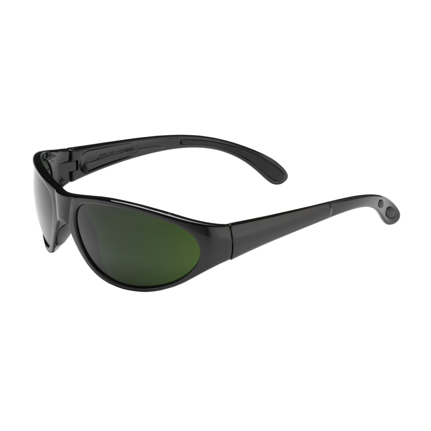 Pirana 250-40-0015 Full Frame Safety Glasses with Black Frame, IR Shade 5.0 Lens and Anti-Scratch Coating