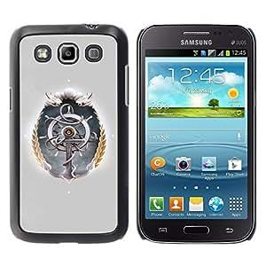 Ships Wheel - Metal de aluminio y de plástico duro Caja del teléfono - Negro Samsung Galaxy Win / I8550 / I8552 / Grand Quattro