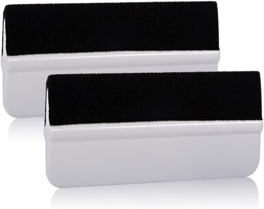 Ehdis® 2 piezas de abrigo del vinilo suave Herramienta Mini tinte de la ventana de película Instalación Enjugador fibra del carbón 3D de vinilo aplicador de película raspador de vinilo Envolturas y Ad