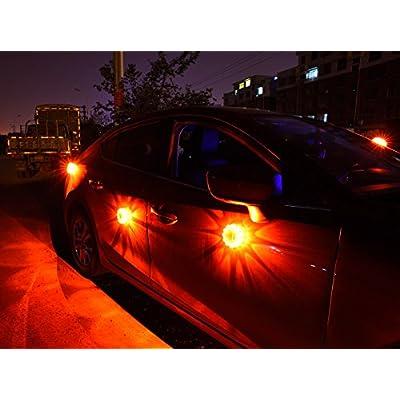 goofy LED Safety Flares Kit for Road Emergency Warning Flashing Signal Reflectors, for Car Motorcycle Boat,6 Pack: Automotive