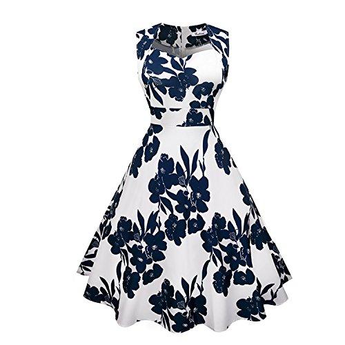 Summer-lavender-beach dress Vintage Floral Dress Women 50s 60s Rockabilly Retro Dress Sexy Audrey Hepburn Big Swing Robe,DN07670,M