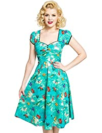 Bella Green Seahorse Friends Print Swing Dress