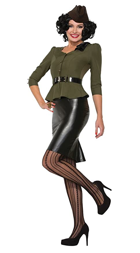1940s Dresses | 40s Dress, Swing Dress Forum Novelties Missile Millie Adult Costume (M/L)- $52.91 AT vintagedancer.com