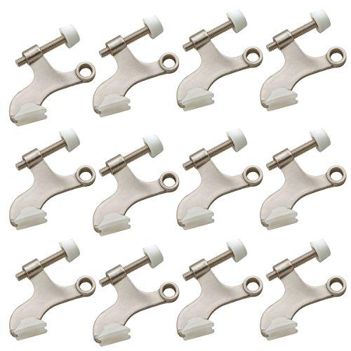 Satin Nickel Deluxe Hinge Pin Door Stops - Pack of 12 Door Stops (Satin Sn Metallics Nickel)