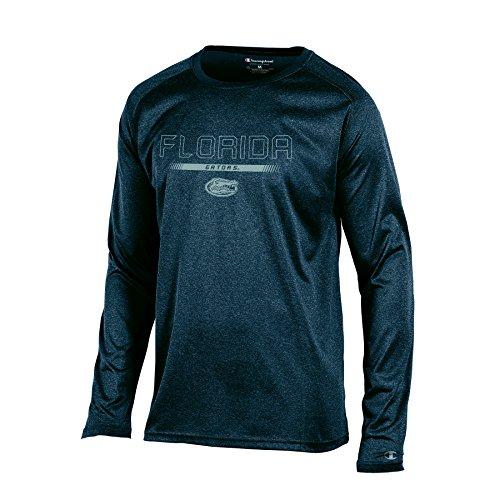 Men's Champion Team Stealth Long sleeve Tee, Charcoal Heather, Large (Florida Gators Mens T-shirt)