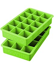 Tovolo Tray of 1.25-Inch Cubes for Whiskey, Bourbon, Spirits & Liquor, BPA-Free Silicone, Fade Resistant