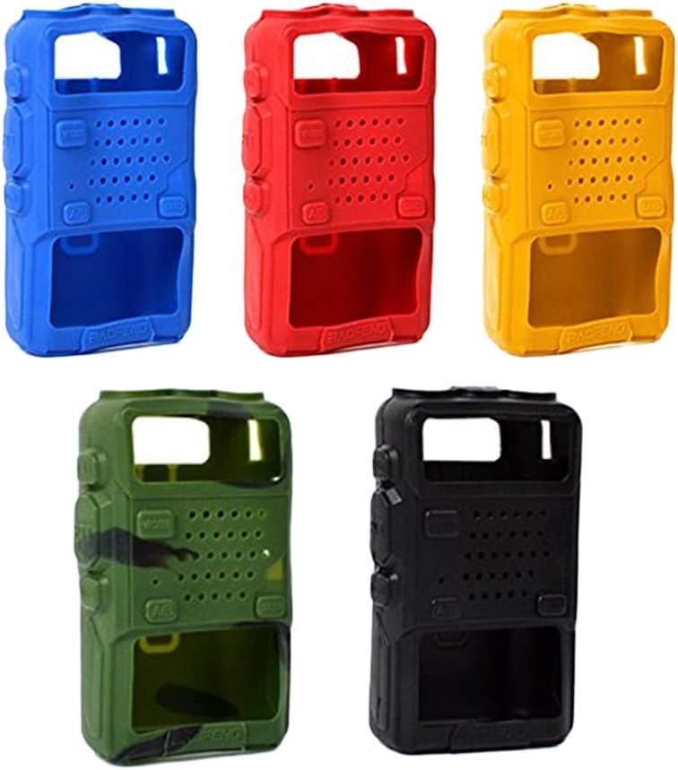 5 Unids Funda de Goma de Silicona Suave Protector de Walkie Talkie para BAOFENG UV5R UV-5RA UV-5RB Series: Amazon.es: Electrónica