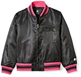 Starter Girls' Bomber Jacket, Prime Exclusive, Black, L (10/12)