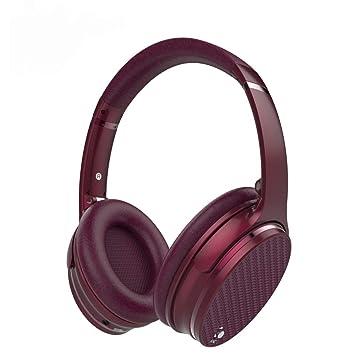 CITW Juegos Auriculares Auriculares Inalámbricos Reducción De Ruido Micrófono Auricular Bluetooth Plegado Multifunción,Red: Amazon.es: Deportes y aire libre
