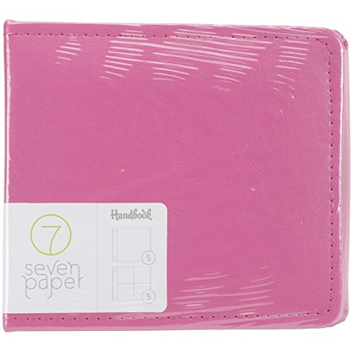 American Crafts Amelia Faux Leather Handbook, 4 x 4, Pink