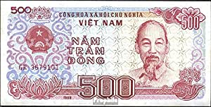 billetes para coleccionistas: Vietnam Pick-No.: 101a unc 1988 500 Dong