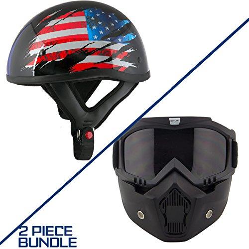 Stars And Stripes Motorcycle Helmet - 9