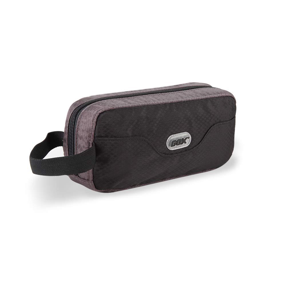 GOX Premium Toiletry Bag, Dopp Kit Case For Travel, Multifunction Cosmetics Organizer Pouch Black Grey