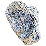 MinkgLove Knitted Chinchilla Fur Massage Glove, Softest Textured Feeling, Unisex