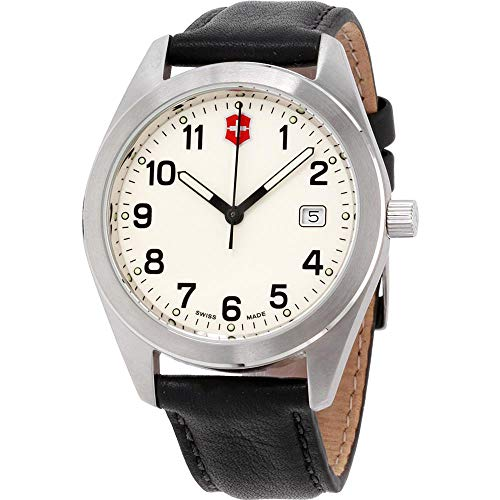 Victorinox Garrison White Dial Leather Strap Men's Watch 26026CB